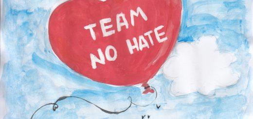 Team no hate ballon